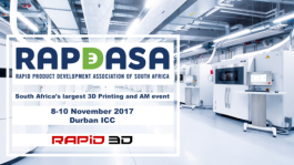 3D Printing Exhibition presented by the Rapid Product Development Association of South Africa (RAPDASA)