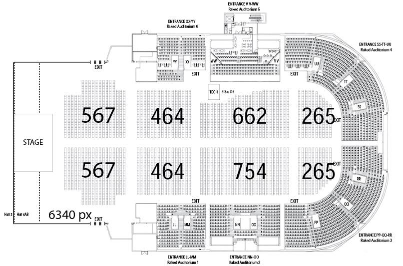 Concert Floorplan Example Durban Icc Events And Entertainment Venue