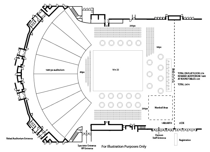 Sports events durban icc events and entertainment venue for Event floor plan layout